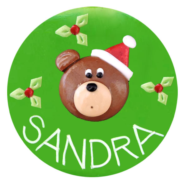 Christmas Teddy - Christmas Badge