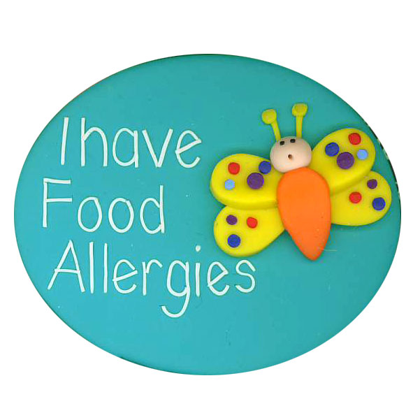 Food Allergies Butterfly - Allergy Alert Badge