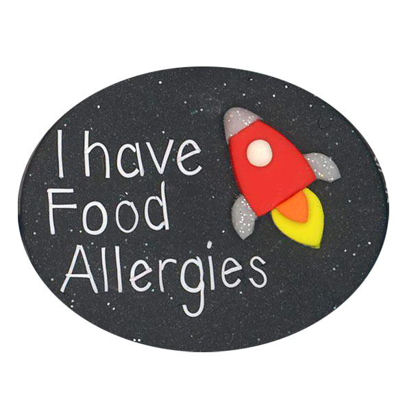 Food Allergies Rocket - Allergy Alert Badge