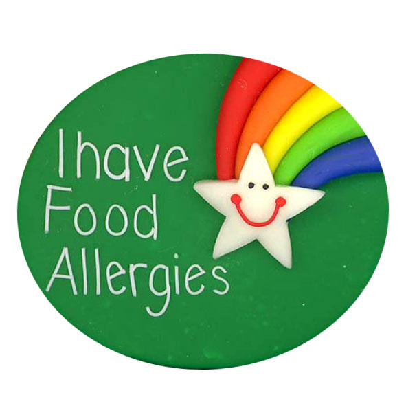 Food Allergies Star & Rainbow - Allergy Alert Badge