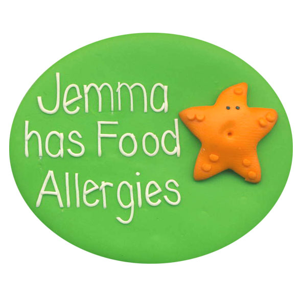 Food Allergies Starfish - Allergy Alert Badge