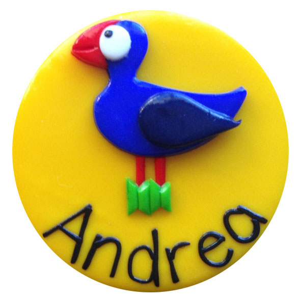 Pukeko - Animal Badge