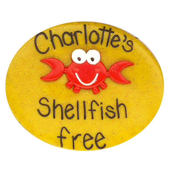 Shellfish Free - Allergy Alert Badge
