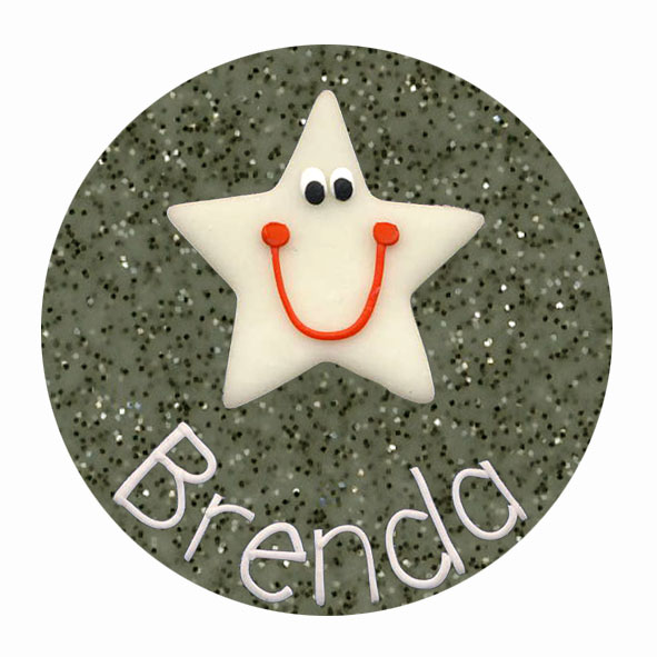 Smiley Star - Animal Badge