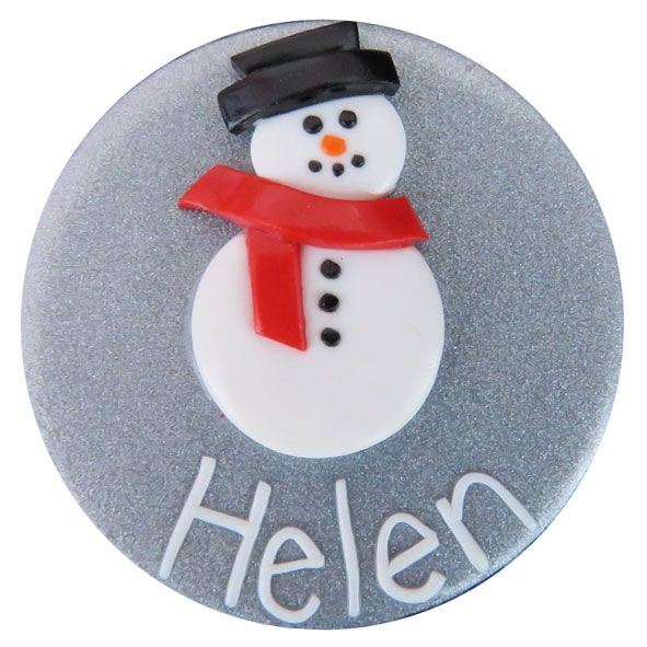 Snowman - Christmas Badge