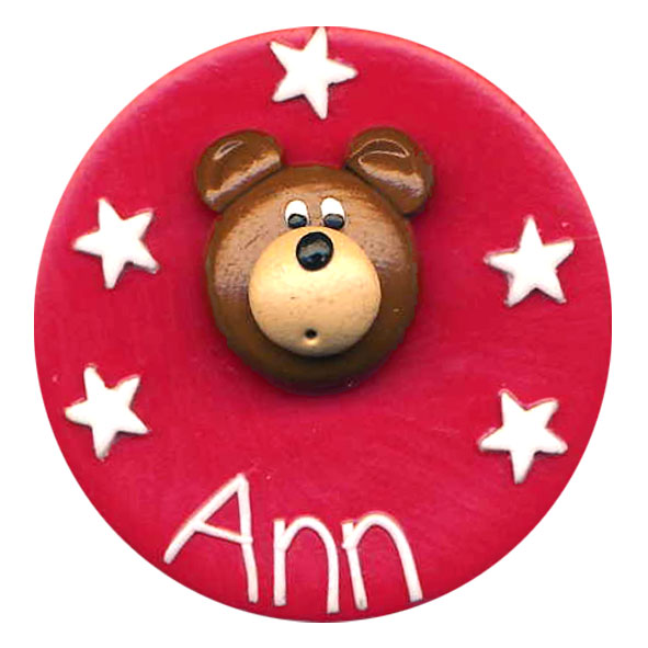 Teddy Face - Animal Badge